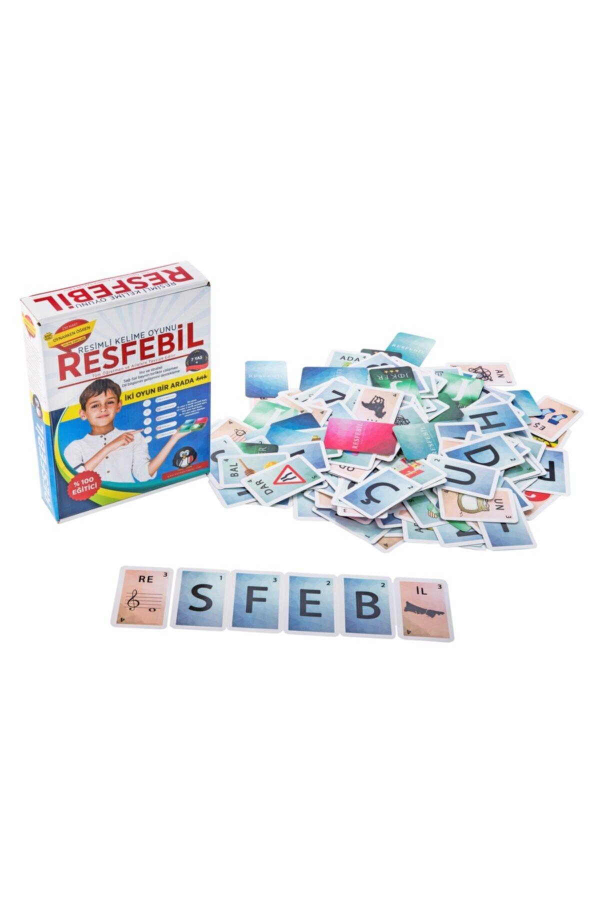 Karma Kitaplar Resfebil Resimli Kelime Oyunu - Aktivite Ve Eğitici Kitap - Zeka Gelişimi 1