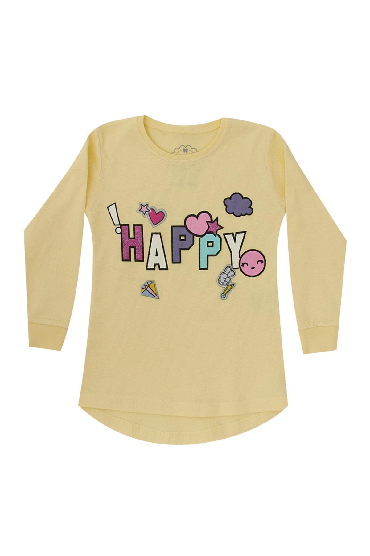 Pattaya Kids Kız Çocuk Baskılı Selanik Sweatshirt 5-9 Yaş P-PM06364