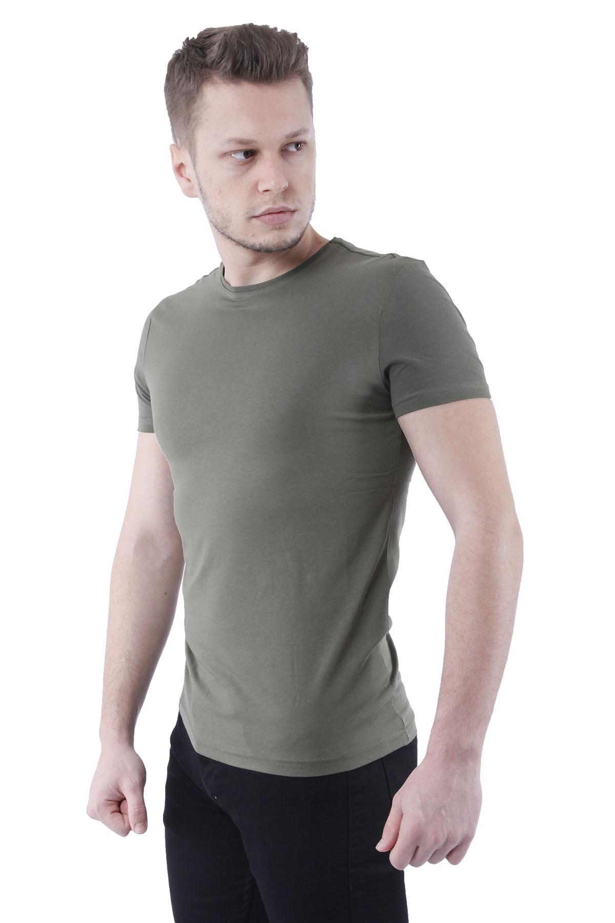 Canelia Haki Erkek Slimfit T-shirt 2