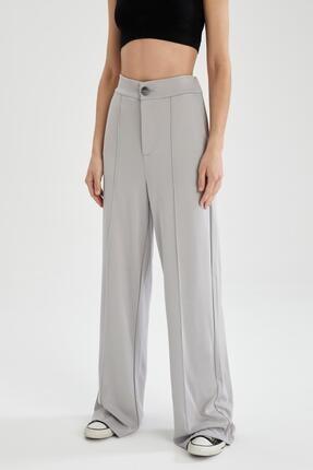 DeFacto Geniş Paça Yüksek Bel Örme Pantolon