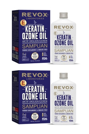 Revox Keratin & Ozon Oil Aktif Oksijen Içeren Saç Bakım Şampuanı / 2'li Set