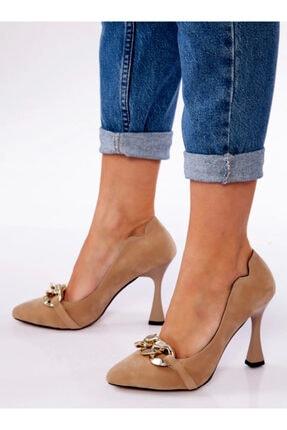ayakkabıhavuzu Kadın Vizon Süet Ayakkabı