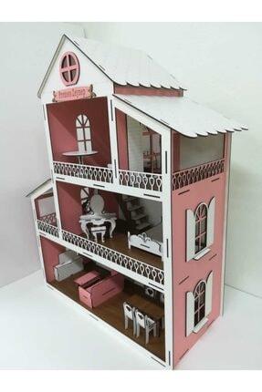 maketronik Küçük Pembe Barbie Ev Eşyalı Ahşap Oyun