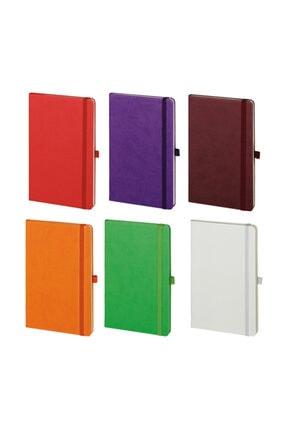 PULKO BUNDLE Klasik 224 Sayfa Termo Kapak Çizgili Not Defteri 13 X 21 Cm, 6'lı Canlı Renkler