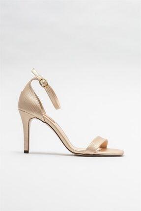 Elle Shoes Kadın Gold Topuklu Sandalet