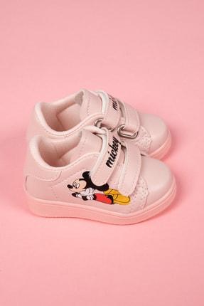 modawars Kız Çocuk Pembe Baskılı Spor Ayakkabı 883-101