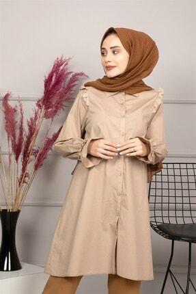 lamelif store Kadın Bej Lamelif Tunik 21108