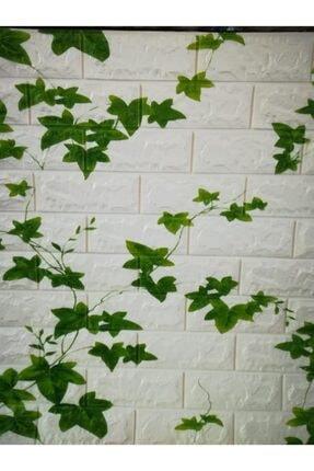 Renkli Duvarlar Nw88 Kavak Yaprağı Tuğla Yapışkanlı 8,5 Mm Duvar Kağıdı 3d Panel