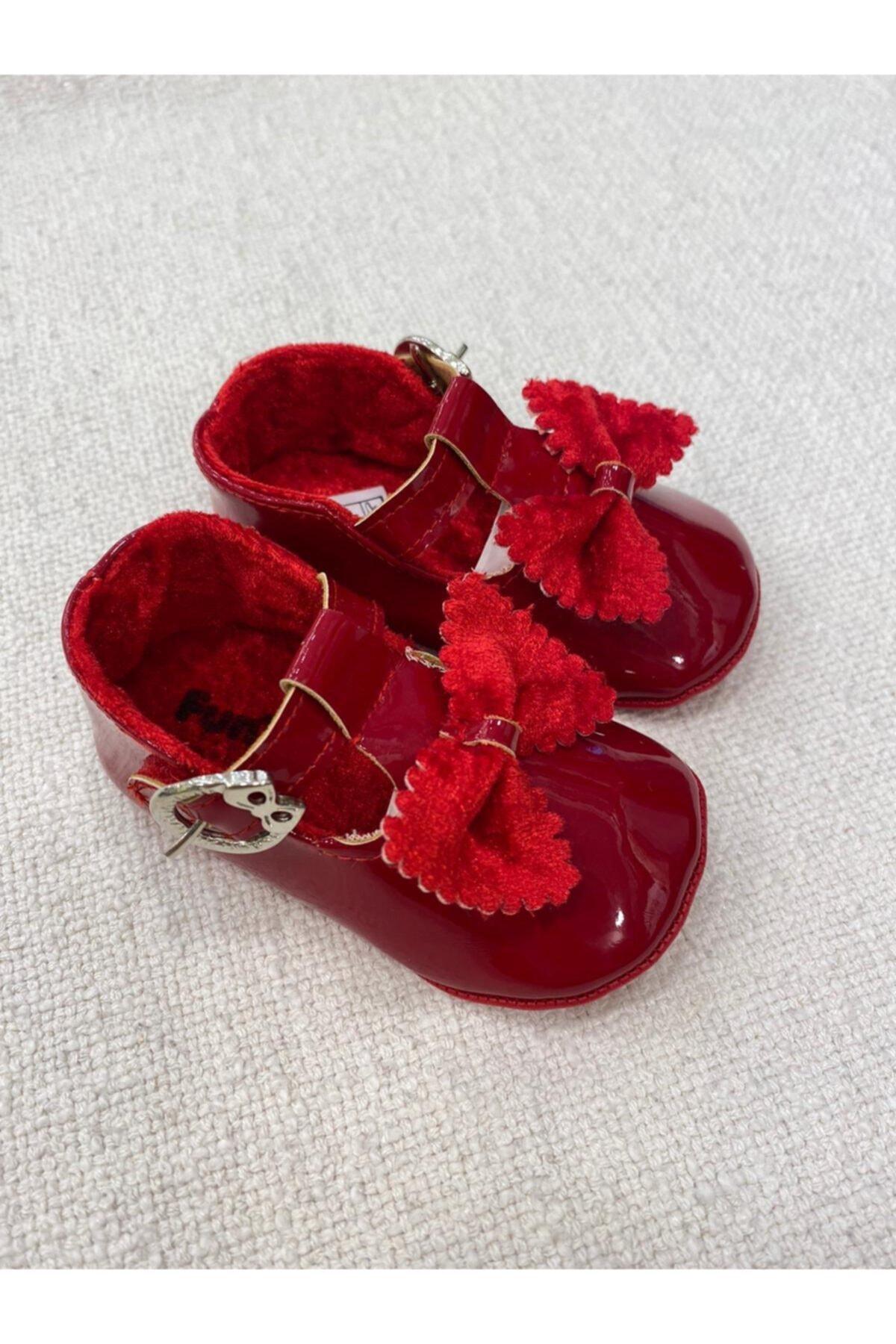 Funny Baby Kız  Bebek Kırmızı Ayakkabı 1