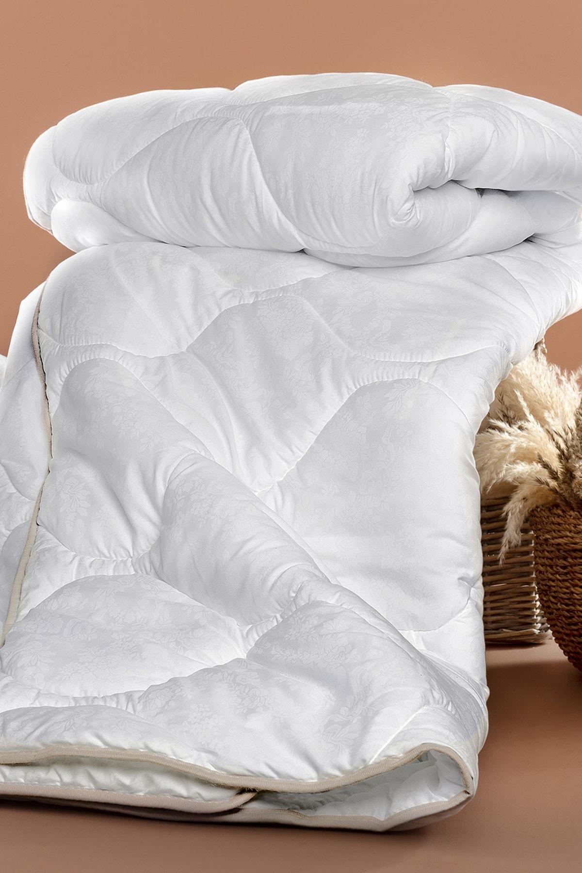 Madame Coco Vintage Jakarlı Biyeli Tek Kişilik Yorgan - Beyaz 1