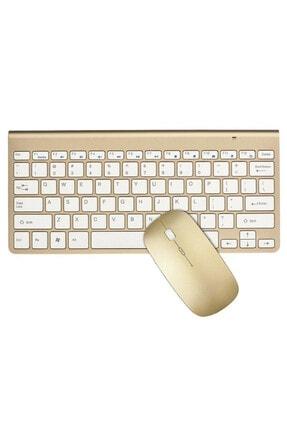 TahTicMer Lenovo Tab M10 Uyumlu Kablosuz Taşınabilir Wireless Klavye Mouse Set 2.4 Ghz
