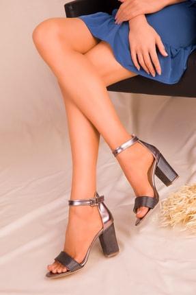 SOHO Platin Kadın Klasik Topuklu Ayakkabı 15925