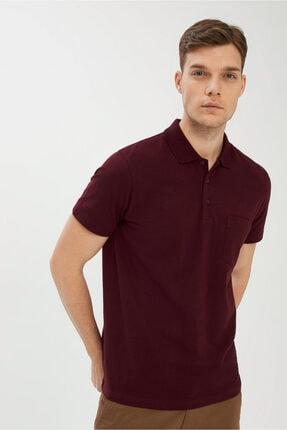 Kiğılı Erkek Koyu Bordo Regular Fit Polo Yaka Tişört