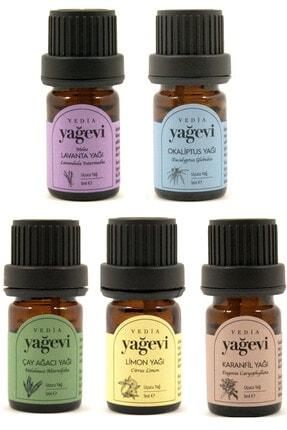 Yağevi Lavanta+limon+çay Ağacı+okaliptus+karanfil Uçucu Yağ Seti 5x5ml