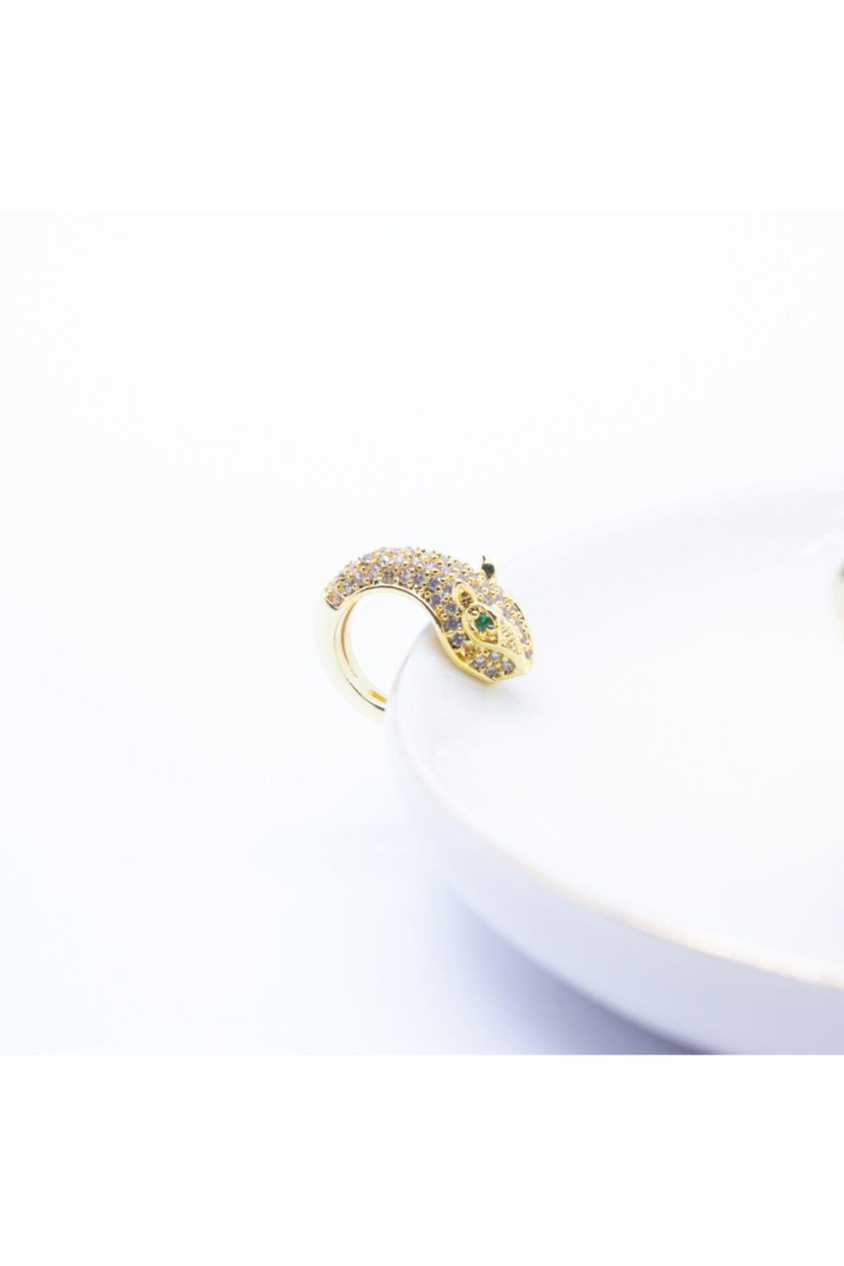 D'amore Atelier Altın Kaplama Kaplan Ear Cuff (kıkırdak) Küpe 1