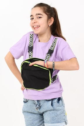 Enisena Kız Çocuk Çantalı Tshirt