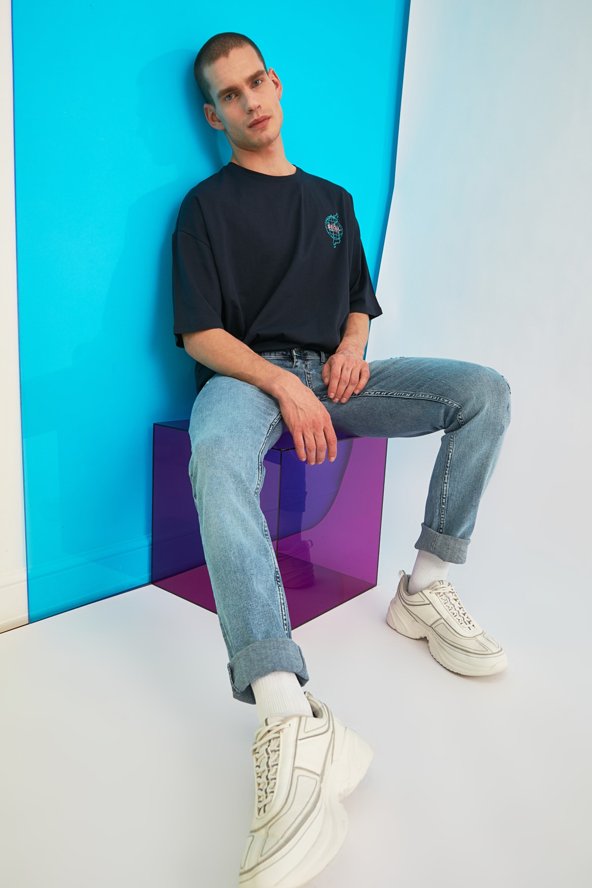 TRENDYOL MAN Mavi Erkek Skinny Fit Jeans TMNSS21JE0278 1