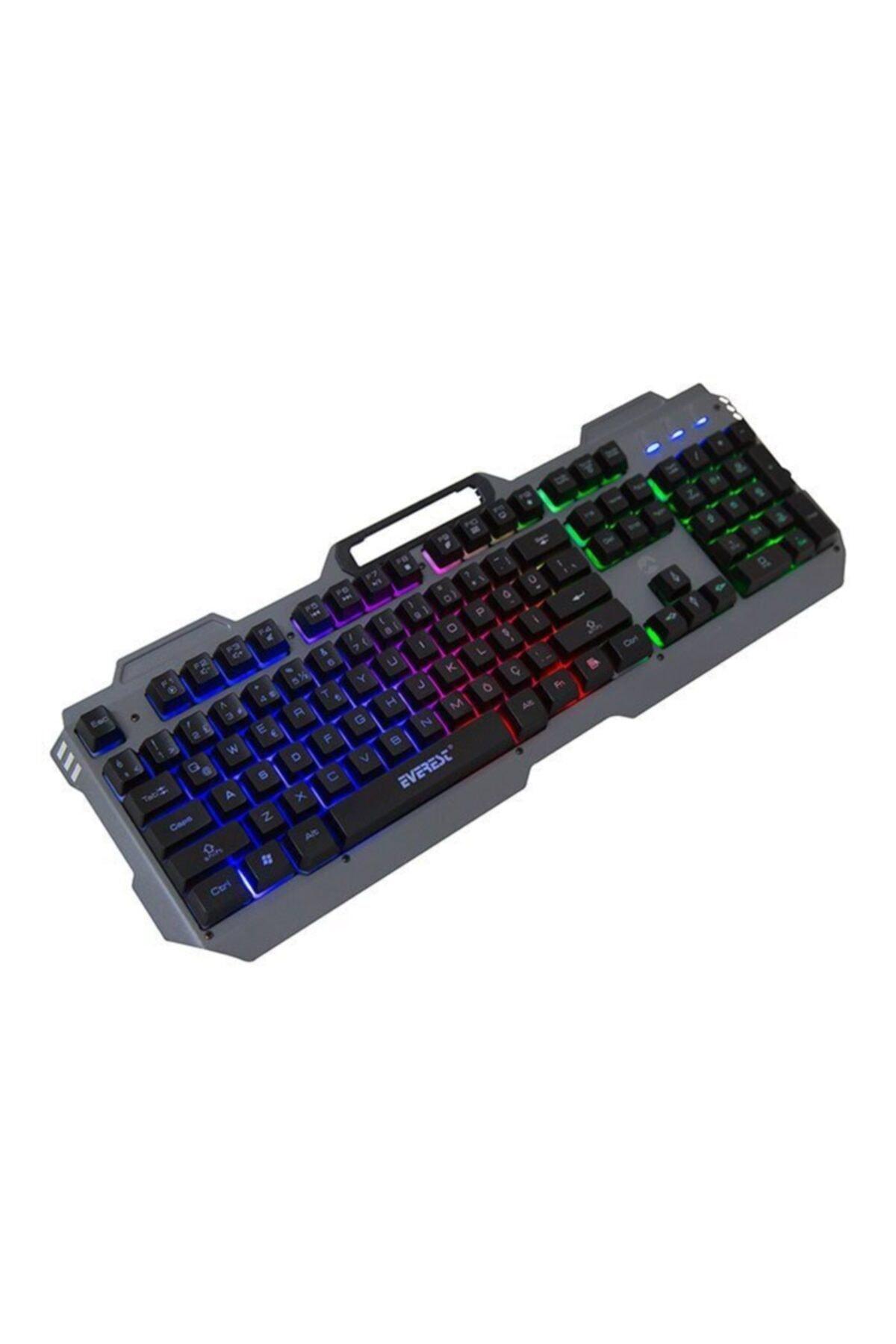 Everest Kb-197 Usb Kablolu Gaming Standart Q Aydınlatmalı Metal Yüzey Klavye 2