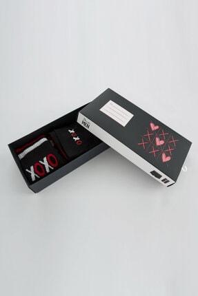 Penti Siyah Gift Dark Xoxo Boxer Çorap Takımı