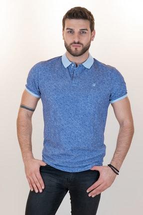 Giovane Gentile Erkek Mavi Polo Yaka T-Shirt
