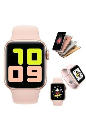 Shotex Oppo Reno 4 Cep Telefonu Uyumlu Rose Gold Akıllı Saat Smart Dijital Watch