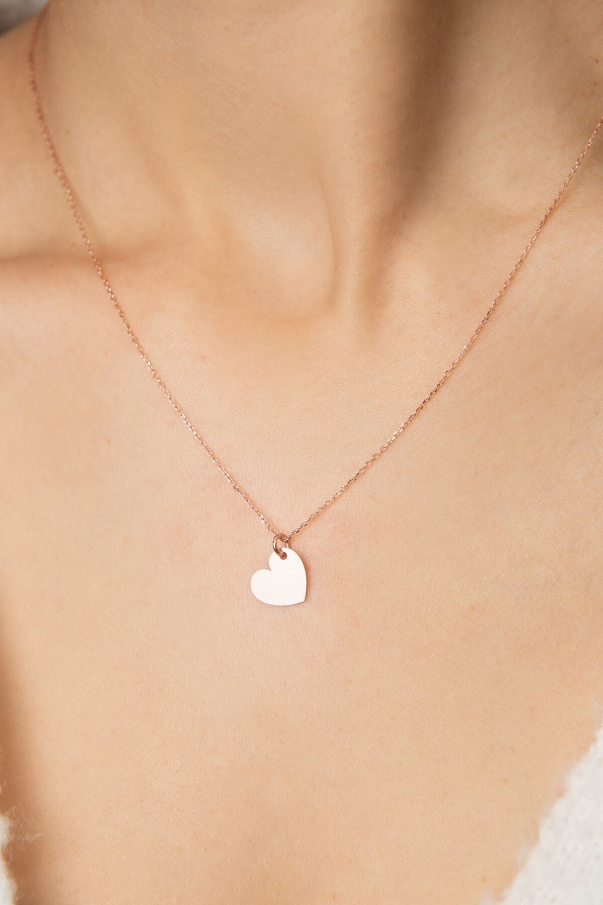Papatya Silver Kadın Kalp Model 925 Ayar Gümüş Kolye 1