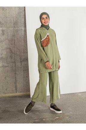 Loreen Kadın Yeşil Tunik Pantolon 2'li Takım