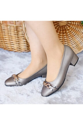 PUNTO Kadın Mevsimlik Yumurta Topuklu Ayakkabı