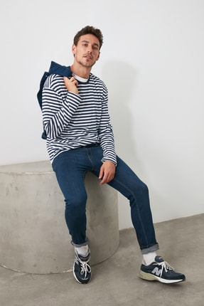 TRENDYOL MAN Indigo Erkek Skinny Jeans TMNAW20JE0204