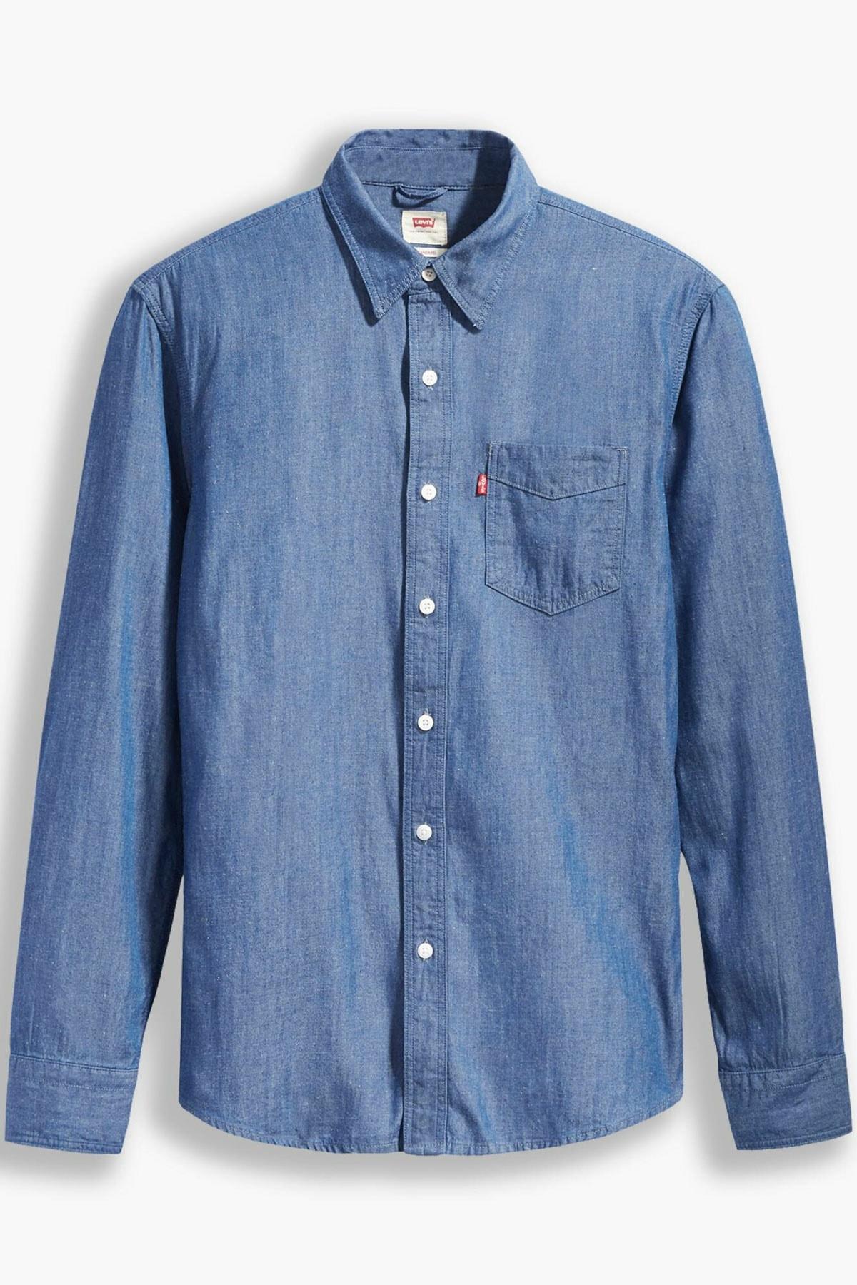 Levi's Erkek Slim Fit Mavi Gömlek 86619-0032 1