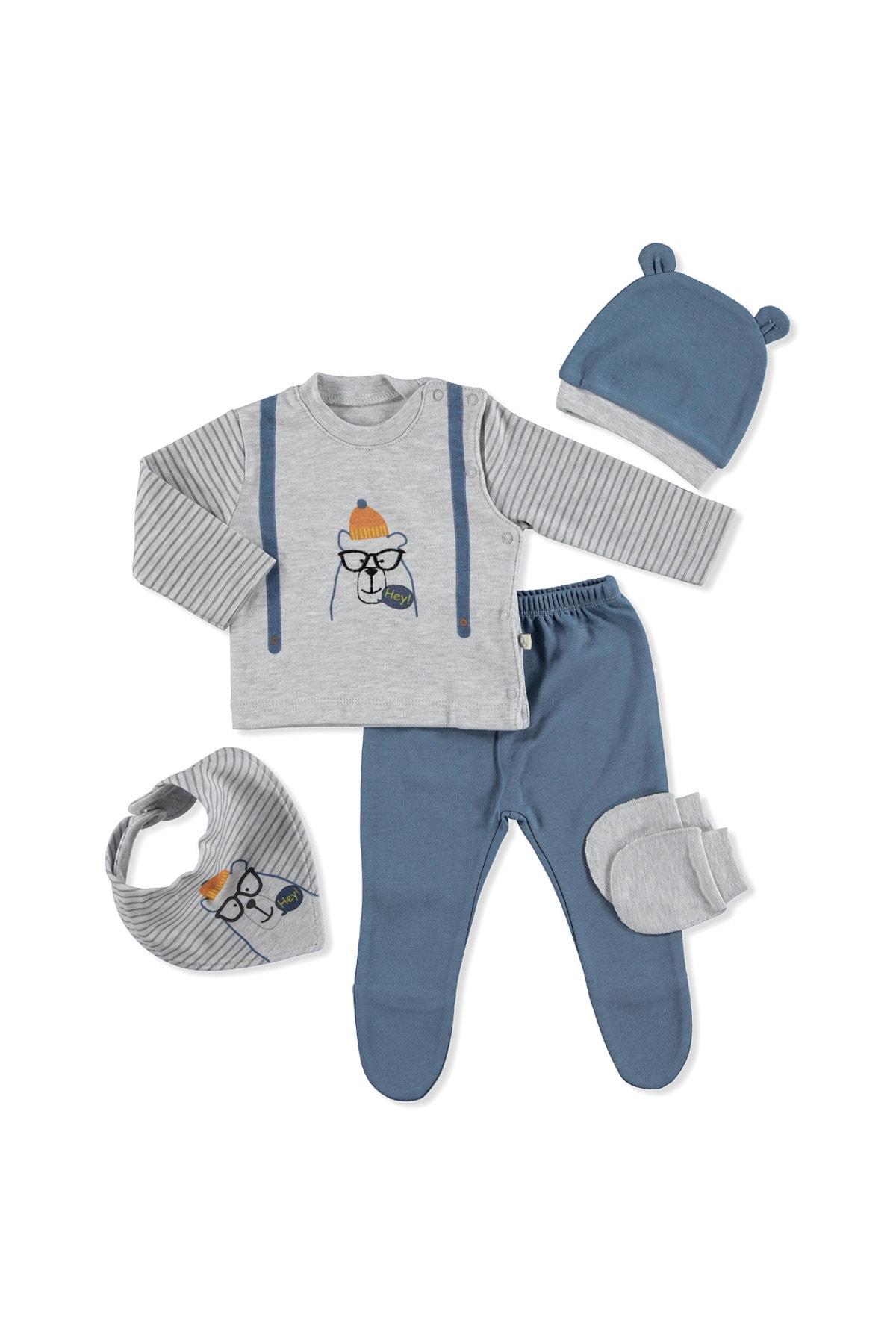Bebbek Erkek Bebek 5'li Hastane Çıkışı Hs-3048 1