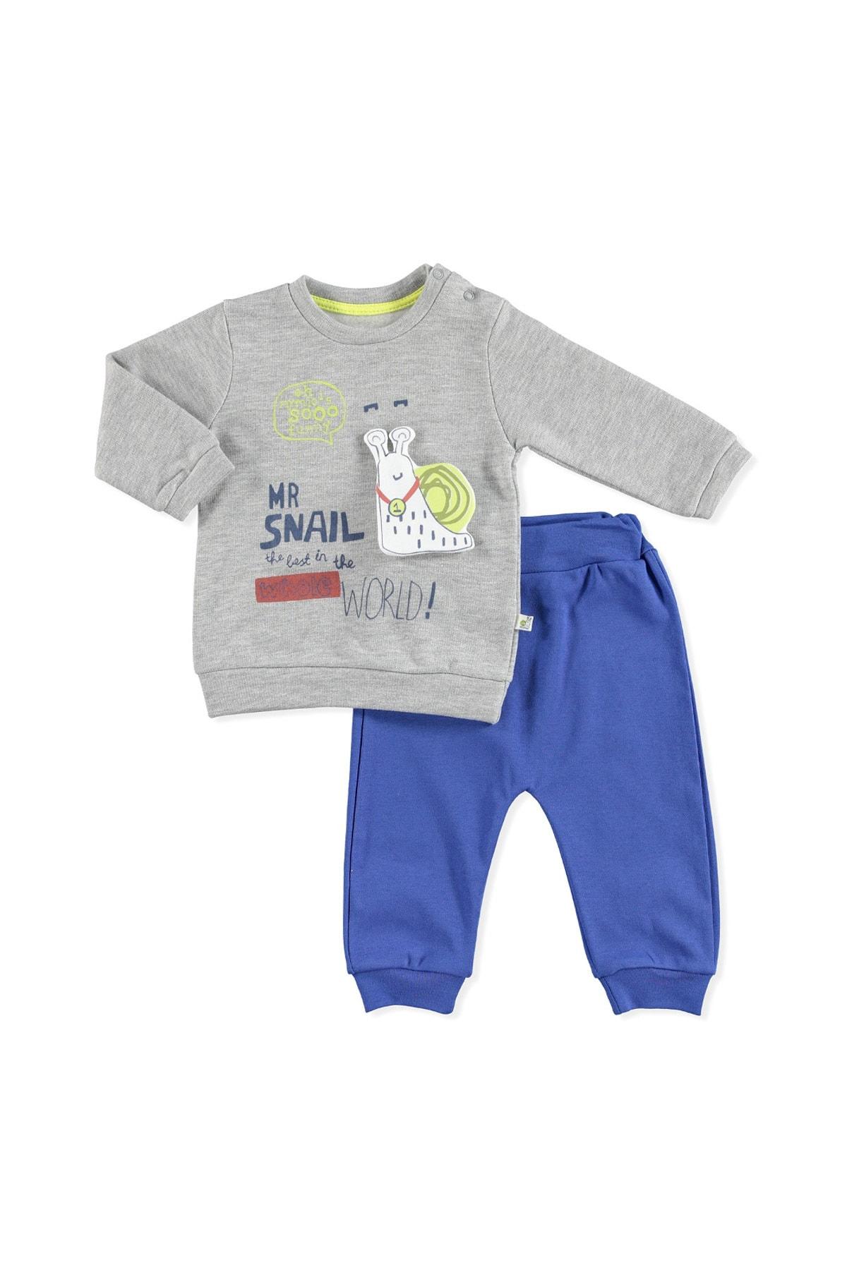 Mymio Baby Salyangoz 2li Bebe Takım 2785 Saks Mavi 1