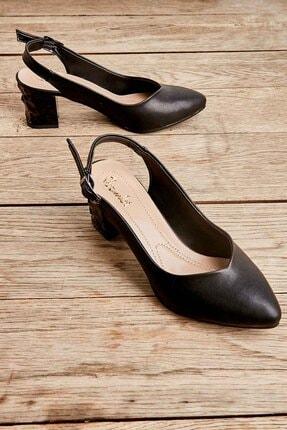 Bambi Siyah Kadın Klasik Topuklu Ayakkabı K01688071109