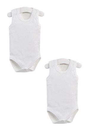 Pattaya Kids Erkek Bebek Beyaz Çıtçıtlı  0-36 Ay Kolsuz Body Ptk20s-406