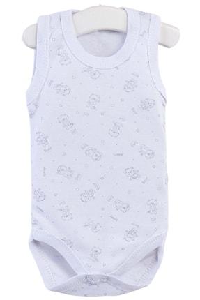 Pattaya Kids Erkek Bebek Beyaz Kolsuz Çıtçıtlı Body 0-36 Ay
