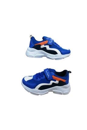 Pierre Cardin Pc081-10 Erkek Çocuk Saks Mavi Ultra Hafif Ortapedik Taban Spor Ayakkabı