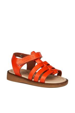 Vicco Candy Deri Kız Bebe Orange Sandalet