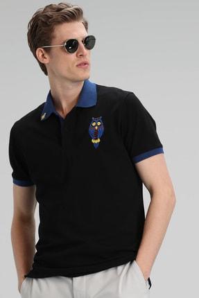 Lufian Palm Spor Polo T- Shirt Siyah