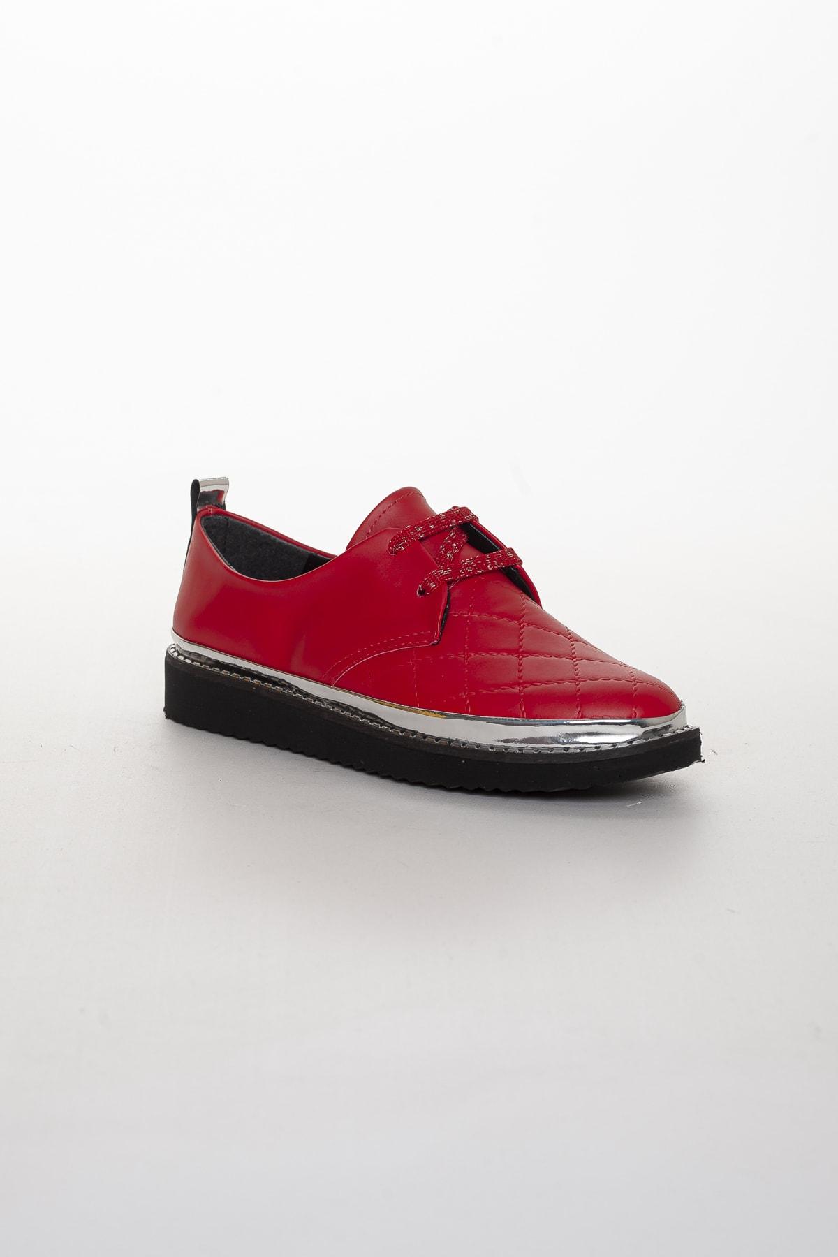 Odal Shoes Bayan Kırmızı Kapitone Oxford Ayakkabı Oxkptne584235000 2