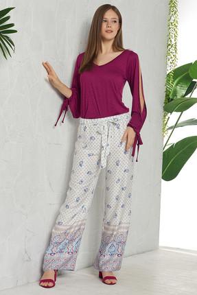 GİZZEY Kadın Mor Kol Detaylı Pantolon Takım  - Outlet Ürünü
