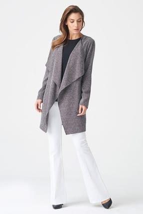 Naramaxx Kadın Siyah Kırçıllı Ceket 17K11111Y248
