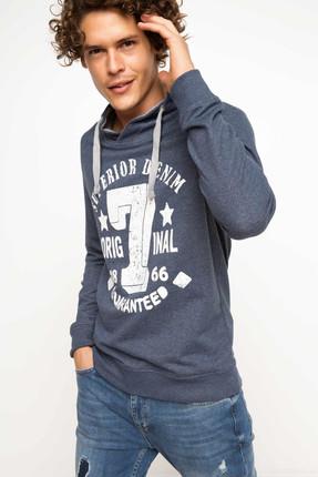 DeFacto Erkek Kolej Baskılı Sweatshirt H3069AZ.17AU.IN51
