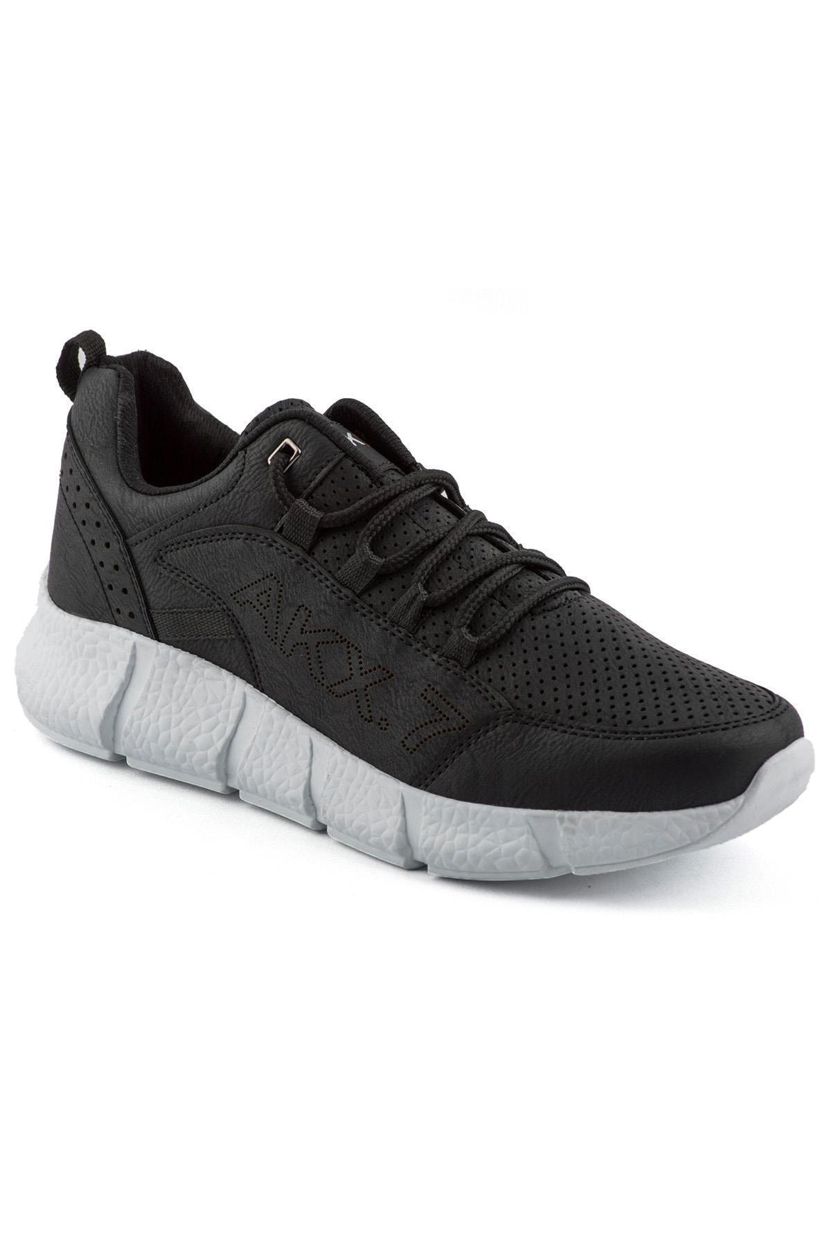 L.A Polo 021 Siyah Beyaz Erkek Spor Ayakkabı 1