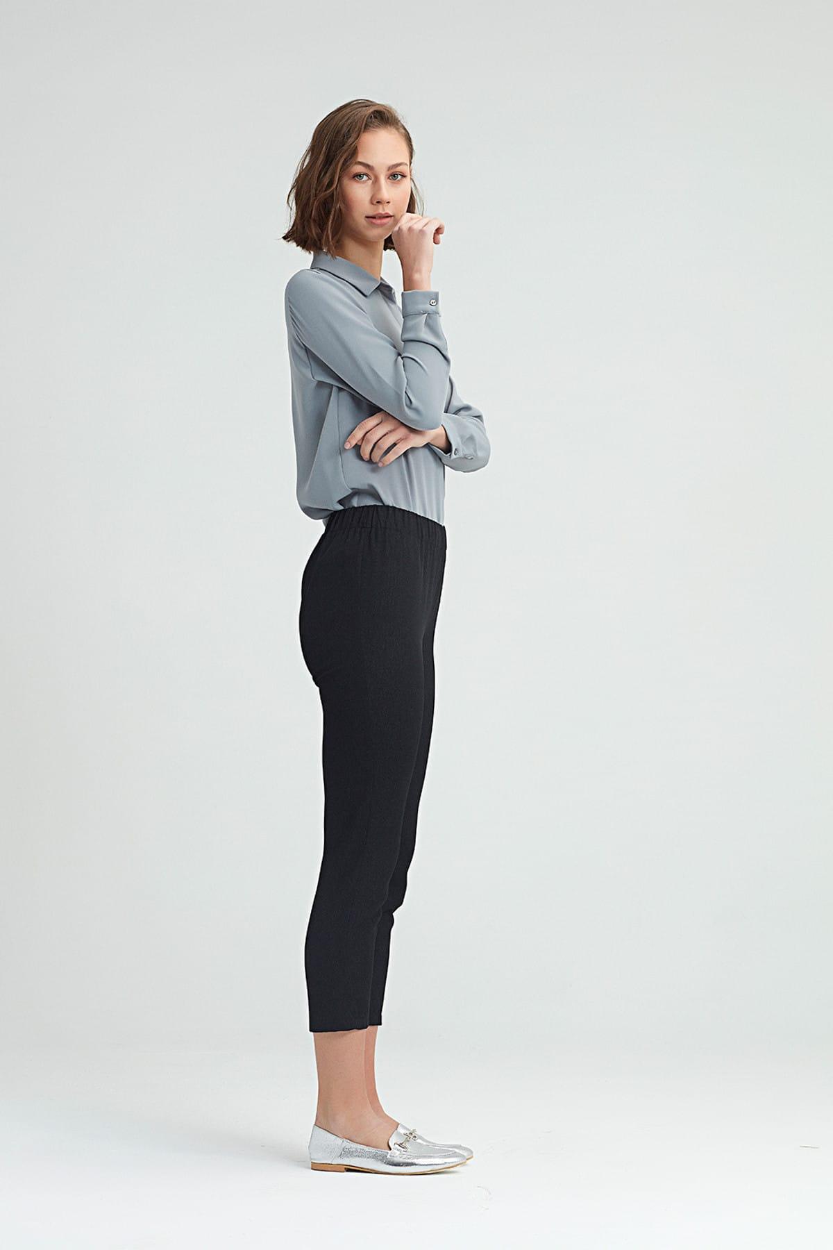 Mizalle Kadın Siyah Dar Kesim Pantolon 18KGMZL2011010 2