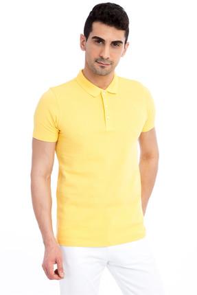 Kiğılı Erkek Sarı Polo Yaka T-Shirt - 62472