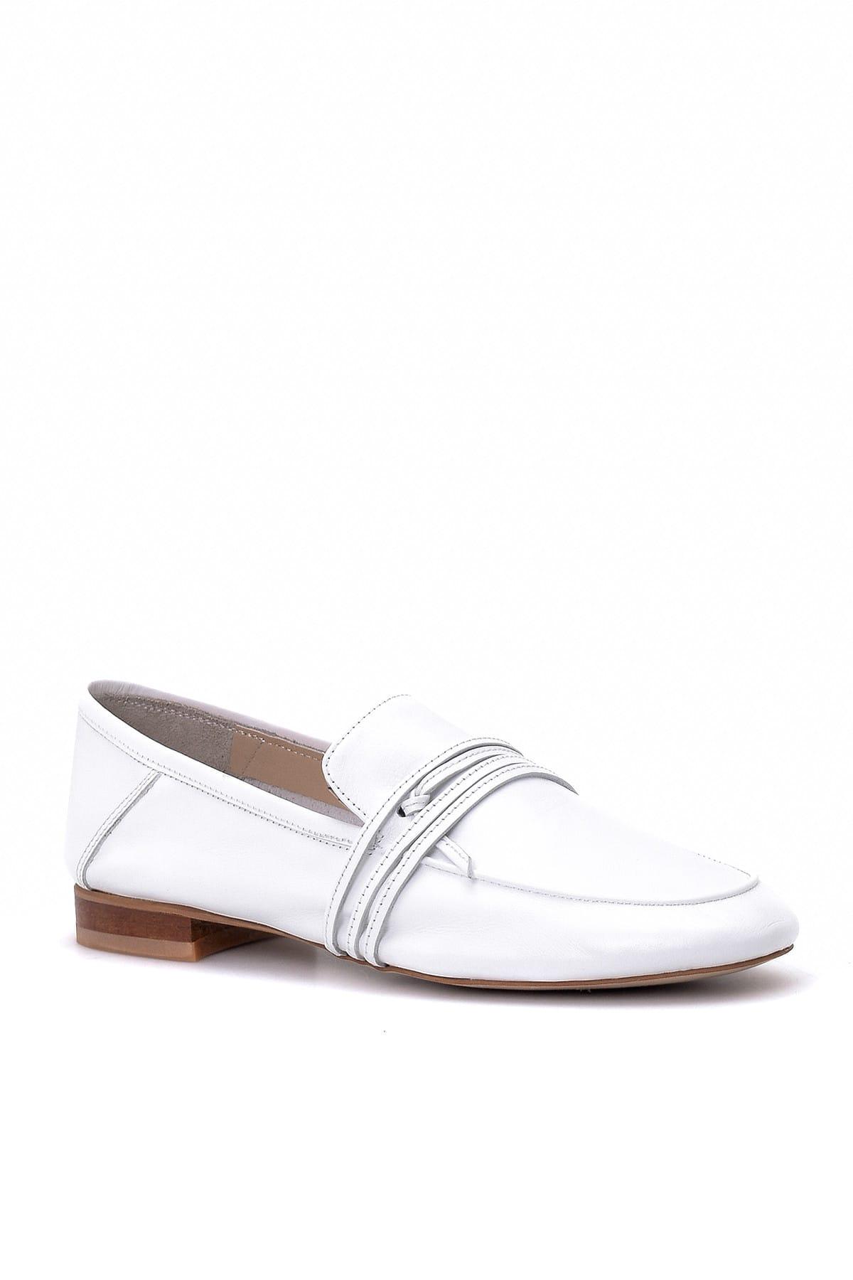 Derimod Hakiki Deri Beyaz Kadın Loafer Ayakkabı 2