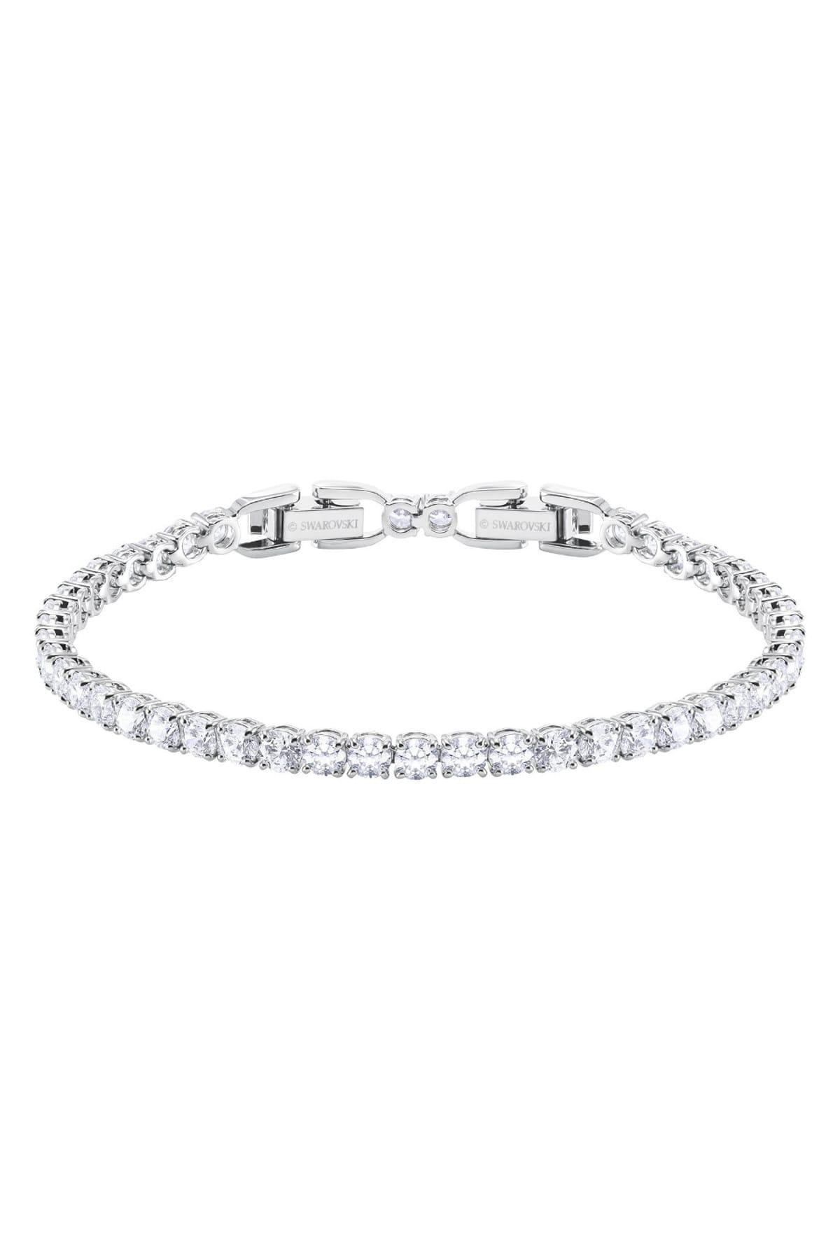 Swarovski Kadın Bilezik Tennis:Bracelet Rnd Dlx Czwh/Rhs M 5409771 2