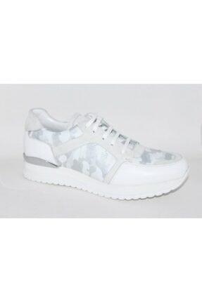 TETRİ Erkek Beyaz Gümüş Kamuflaj Spor Sneaker 017