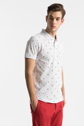 Ltb Erkek  Beyaz Polo Yaka T-Shirt 012198435060890000