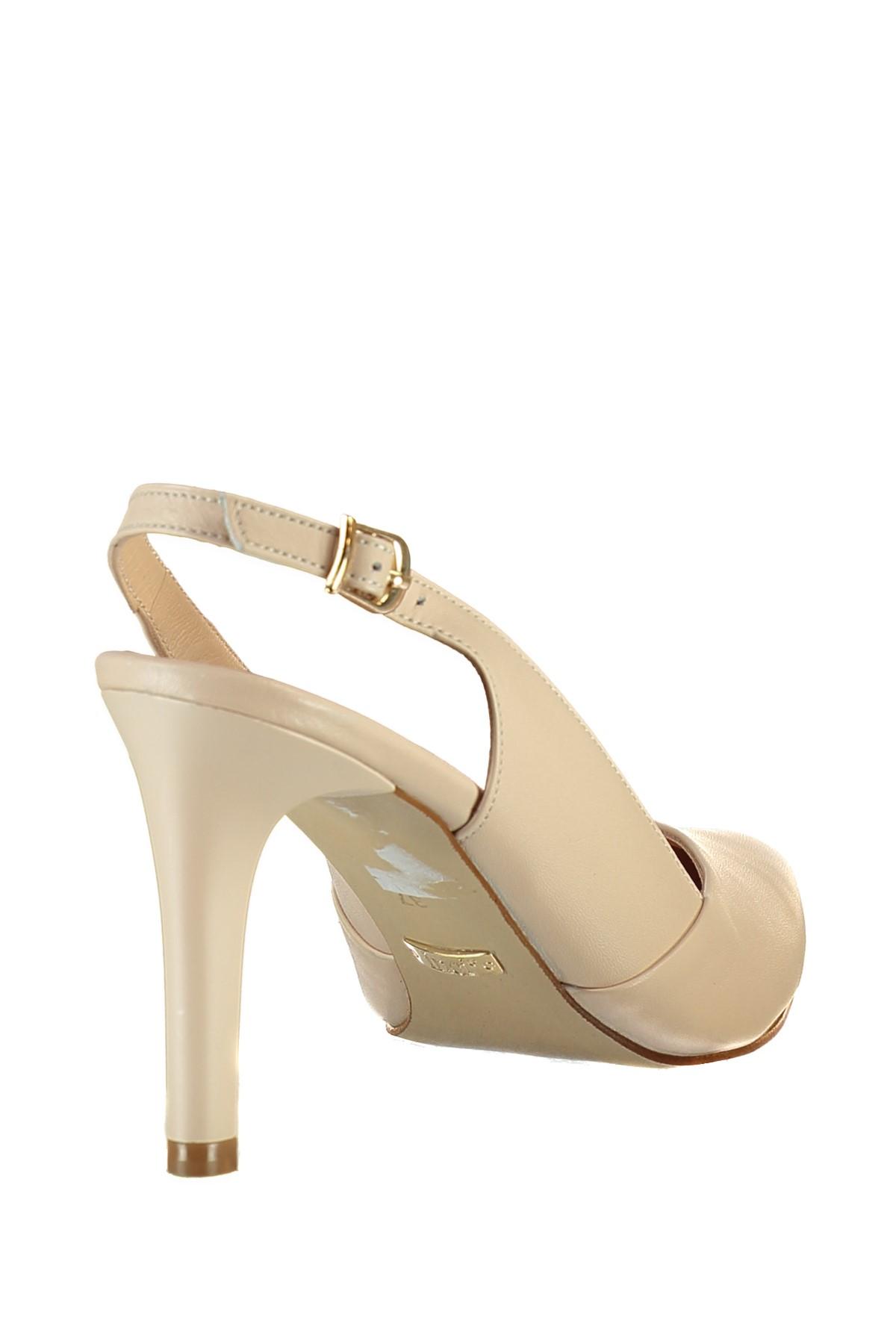 İnci Hakiki Deri Pembe Kadın Topuklu Ayakkabı 120120401010 2